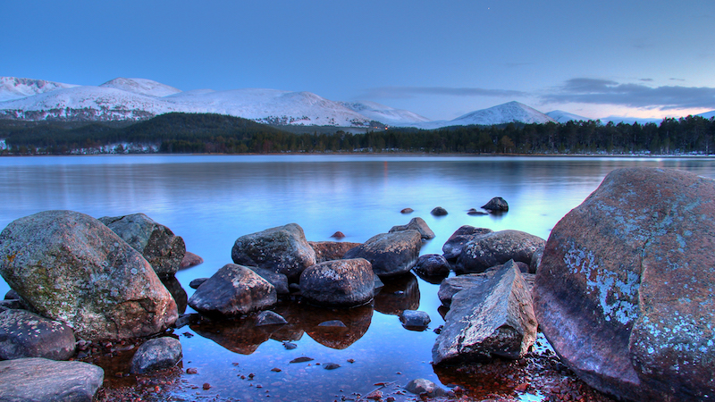 loch morlich - best cold weather walks in scotland
