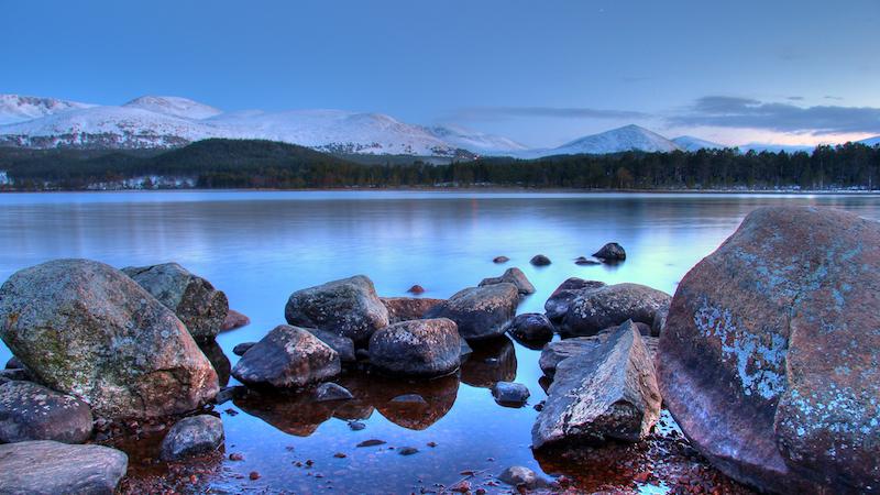 loch morlich - best cold weather walks in scotland