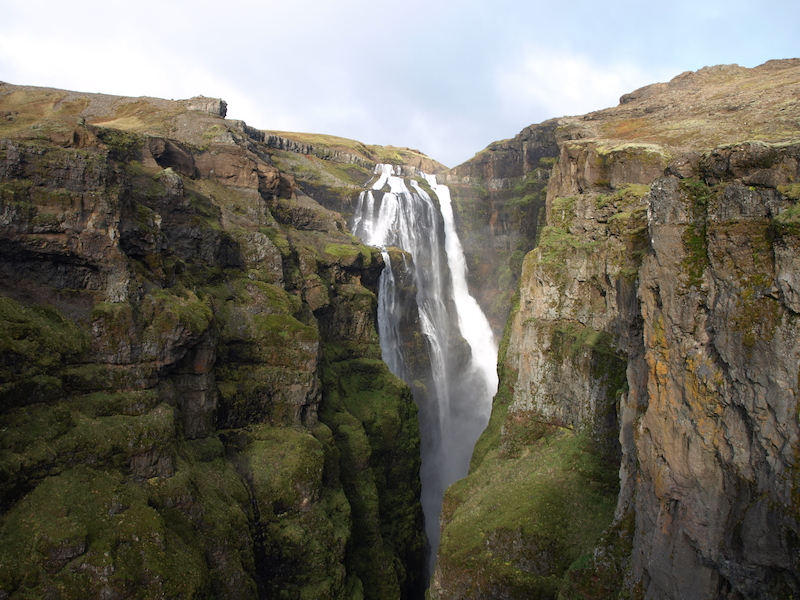Glymur Waterfall - best hiking in iceland