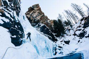 ice climbing in italy - winter adventures
