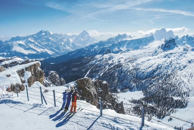 views from lagazoui - winter adventures