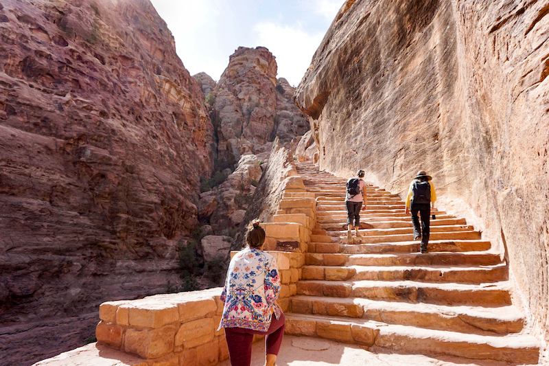 trekking to the ancient city of Petra
