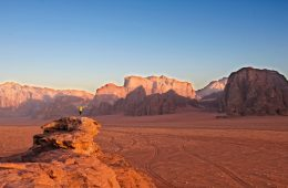 Sunrise at Wadi Rum in Jordan - ancient city of Petra