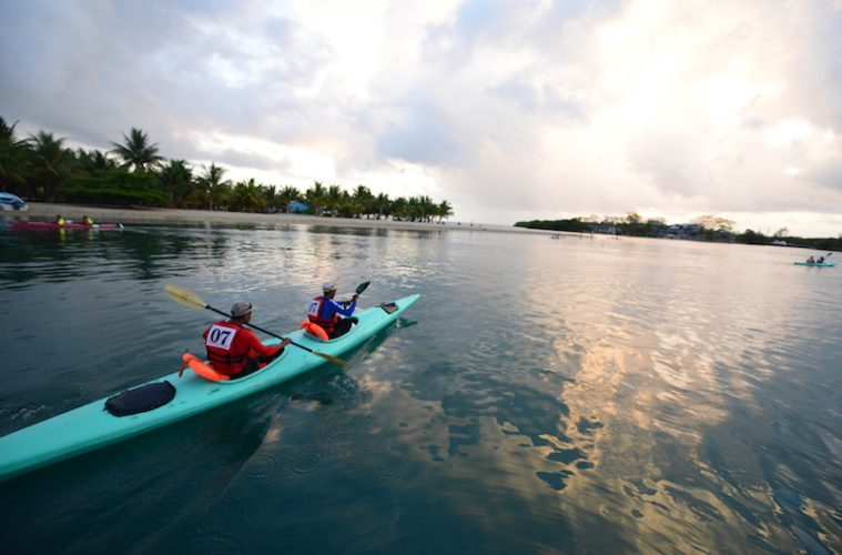 BTB love sea challenge sea kayaking event in belize