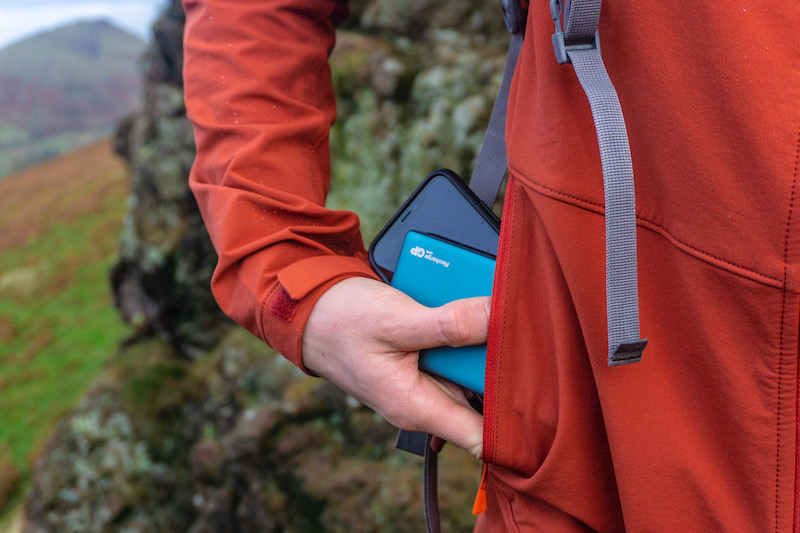 the GP batteries power bank came in handy in the Shropshire Hills
