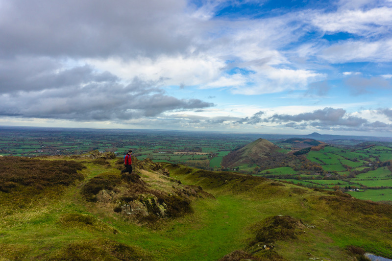 hiking in the Shropshire Hills