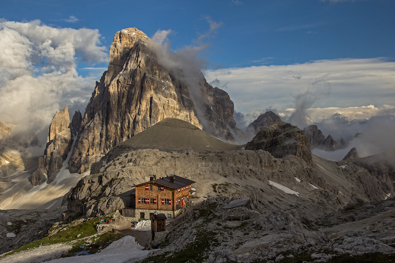 mountain hut accomodation alta pusteria alpine ridgeway