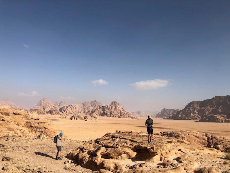 Hiking Wadi Rum