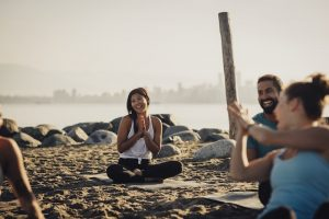 outdoor yoga class best things to do in Vancouver