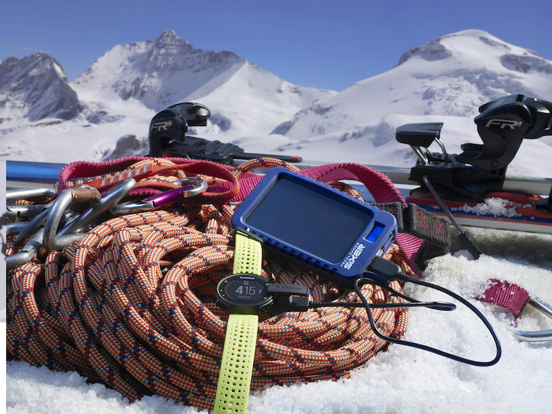 solar technology chargers ski mountaineer