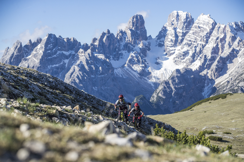 Mountain biking the Three Peaks in the Dolomites