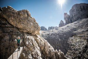 Tridentina via ferrata in the Dolomites