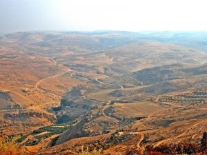 view from mount nebo best hiking in Jordan