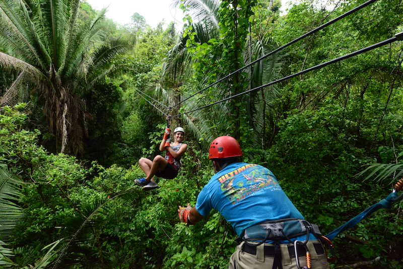 ziplining, best adventurous things to do in belize