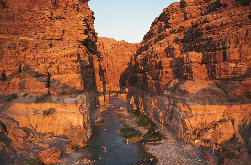 wadi mujib best hiking in jordan