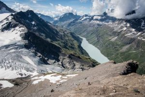 An incredible view of the Mauvoisin Lake
