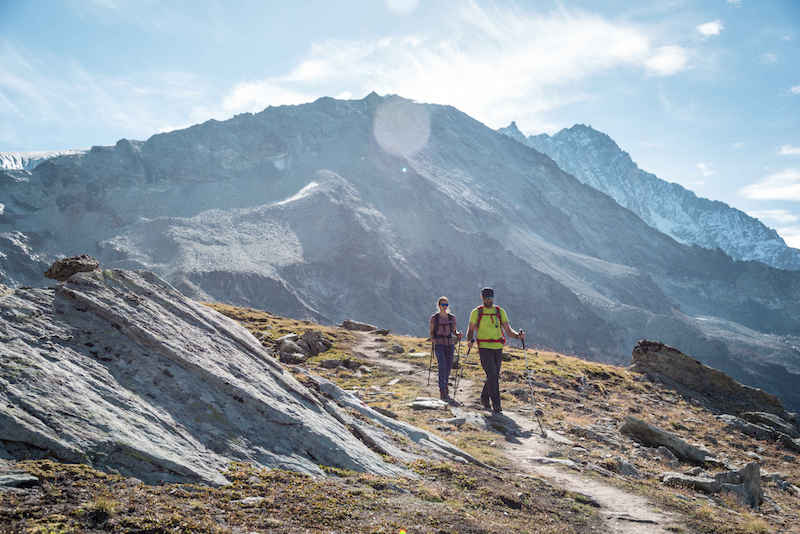 hiking by the weisshorn, Switzerland