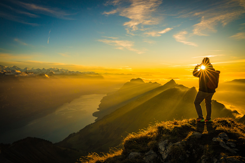 Sunrise at the brienzer rothorn walk