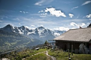 Looking accross to the jungfrau eiger and monch