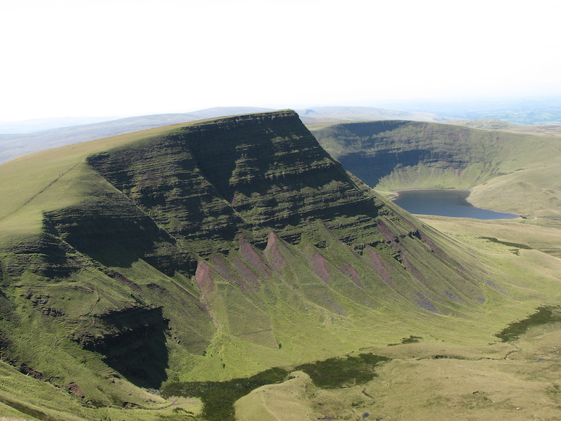 Llyn y Fan Fach and the Black Mountain in the Brecon Beacons