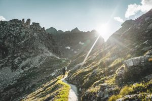 Beautiful views on Stage 21 of the alpine passes trail