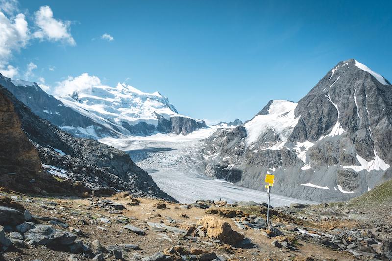 Pristine alpine views on the alpine passes trail, Switzerland