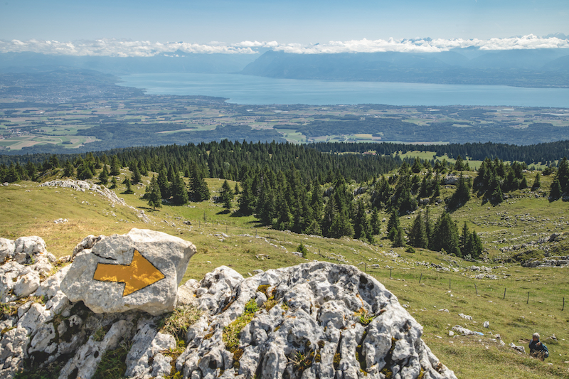 A view from the Jura Crest Trail, Switzerland