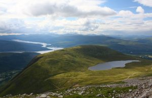 view from the Ben Nevis mountain path