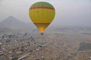 Hot air ballon ride in India