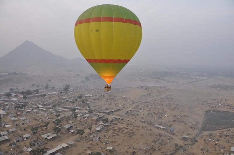 Hot air ballon ride in India