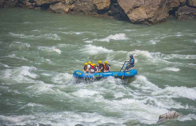 White water rafting, one of the most adventerous things to do in India