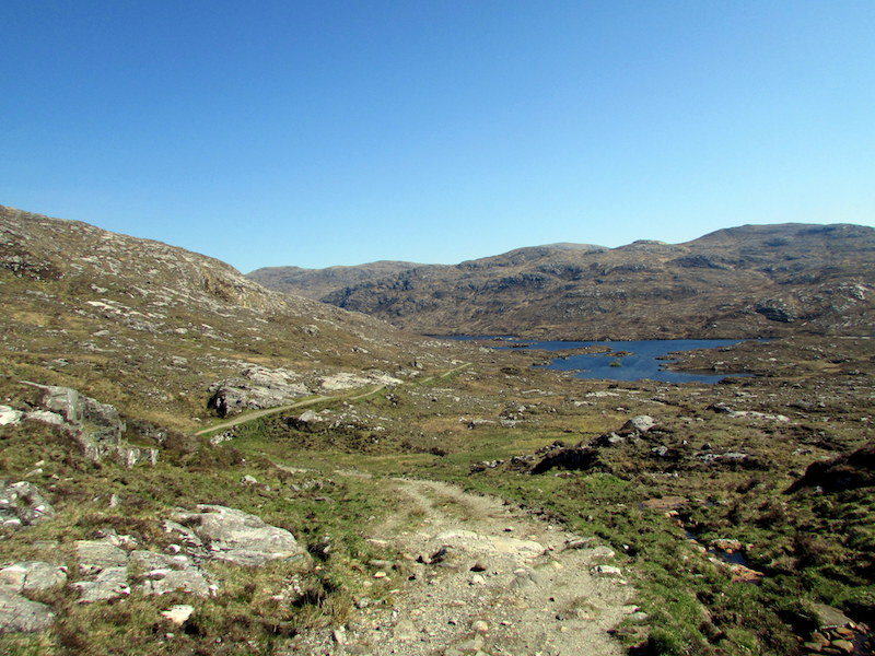A footpath on the Hebridean Way, Scotland