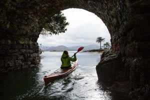 heading out onto the water on a kayaing adventure in ireland