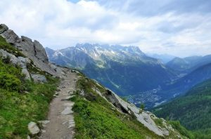A path of the famous Pyrean Haute Route, one of the most remote hiking trails in europe