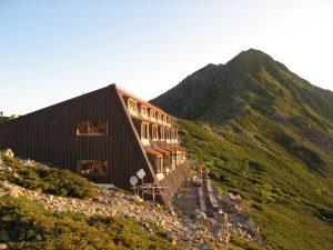 a mountain hut on Mount Kitadakes ridge