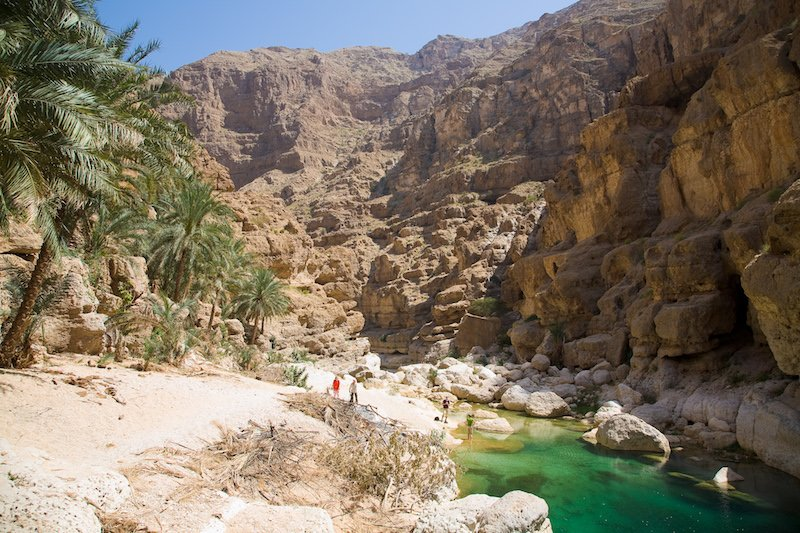 Wadi Shab Oasis in Oman