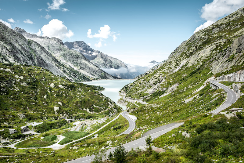 A view of the Grimsel Pass, the trailhead for one of the best hikes in the Bernese Oberland