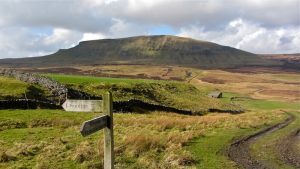 A signpost on the Pennine Way, one of the best long-distance hikes in the UK