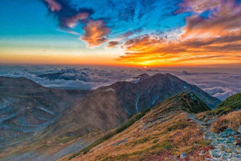 Sunset at Mount Tateyama