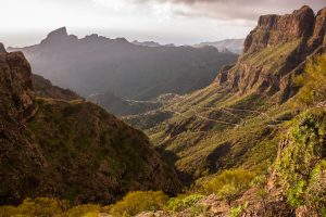 view from the trails in in tenerife, one of the best hiking destinations for winter sun