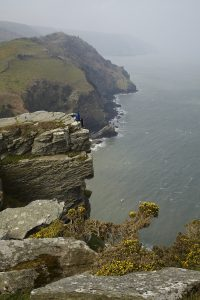 The Valley of Rocks in Devon