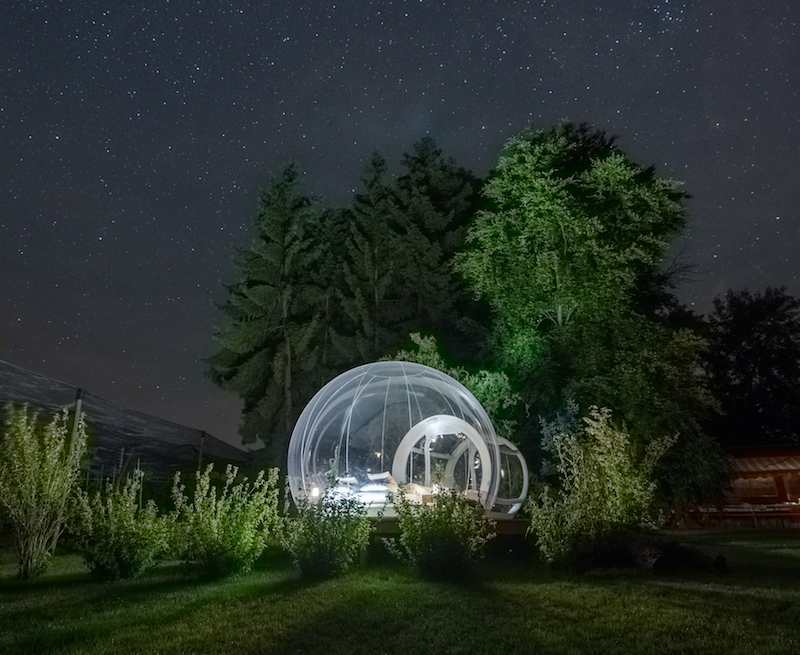 The bubble hotel in Switzerland, one of the most amazing and unique places to stay in europe