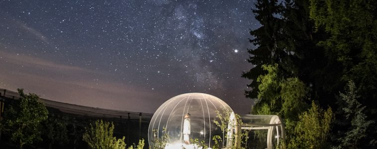 Bubble hotel, unique places to stay in europe
