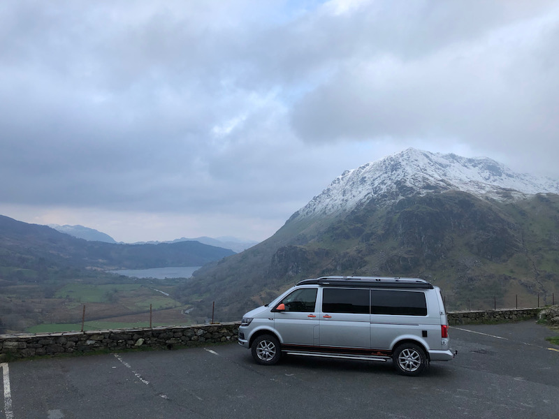 A mountian pass on the great british adventure road trip