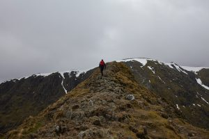 Hiking Helvellyn in the Lake District
