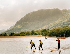 Surfing in Snowdonia