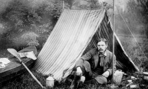 Thomas Hiram Holding in a tent