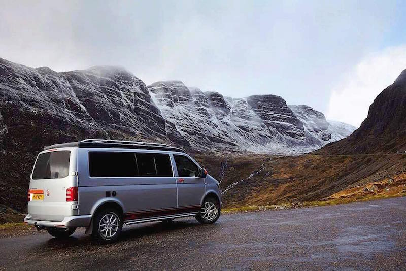 Camper King van in Scotland