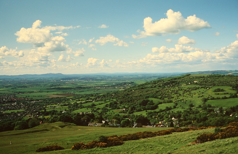 A view from the top of Cleeve Hill on the Cleeve Hill Ring walk - best cotswolds walks