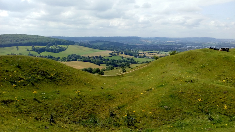 Best Cotswolds Walks - a view from the haresfield beacon on the cotswold way